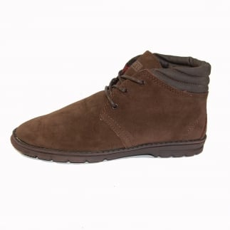 Pasione Mens Suede Desert Boot Chocolate
