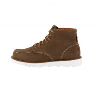 Rocca Tan Suede Moc Toe Boots