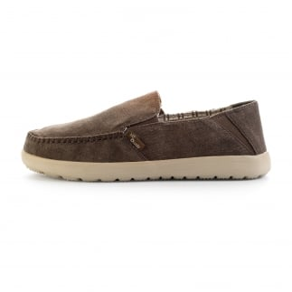 Dude Forli Chocolate Stonewash Canvas