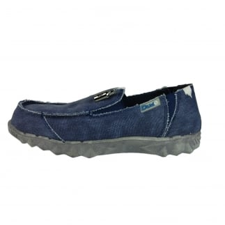 Farty Youth Classic Blue Slip On Mule