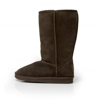Dolomity Boot Espresso Suede Slouch Boot