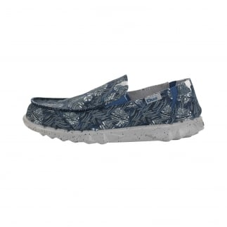 Farty Print Blue Jungle Slip On / Mule
