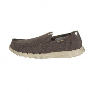 Farty Linen Chocolate Slip On / Mule