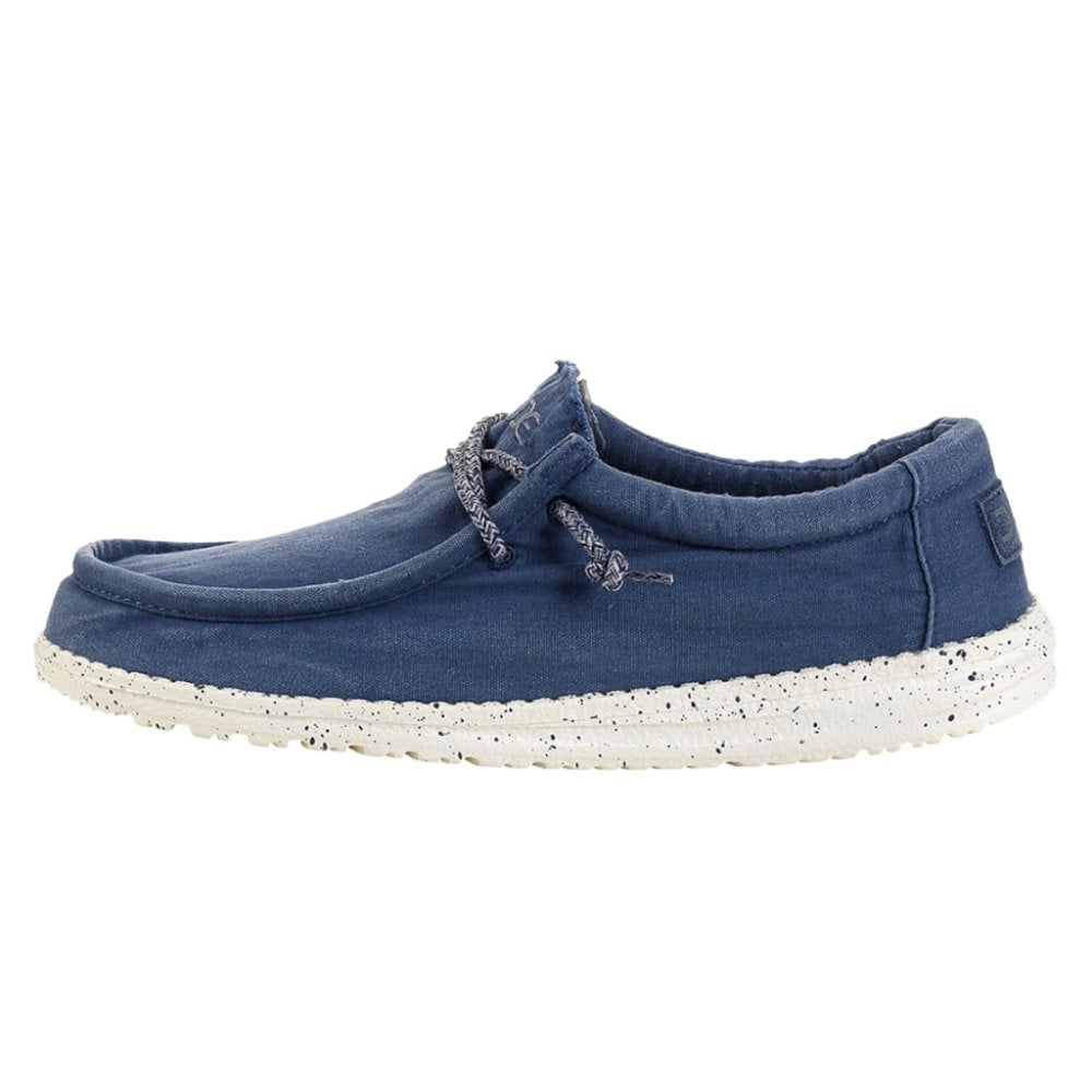 Hey Dude Wally Washed Canvas Steel Blue
