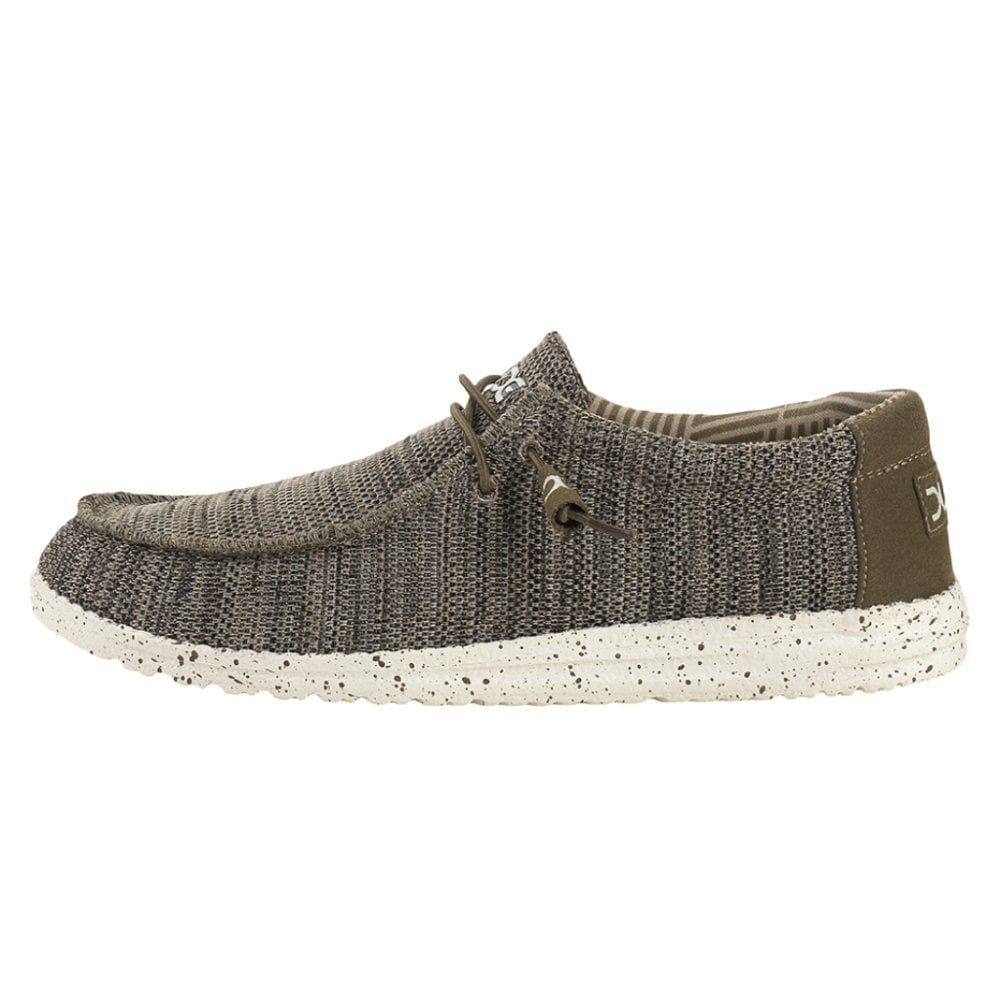 Hey Dude Shoes Wally Sox Knit Brown