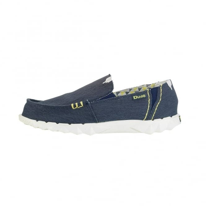 Dude Shoes Farty Stretch Navy Slip On / Mule