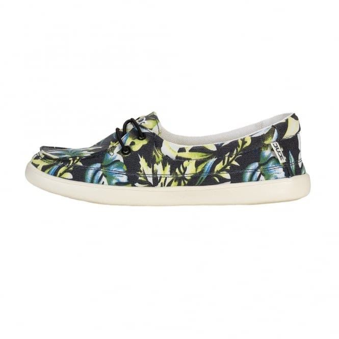 Dude Shoes Ferrara Slip On Black Palm