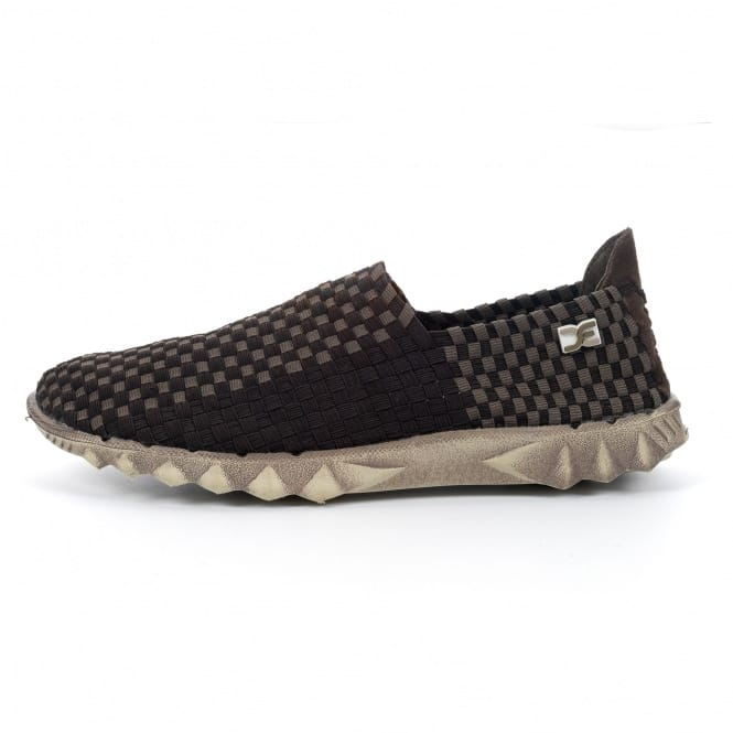 Dude Shoes Farty E-Last 2 Woven Chocolate Check