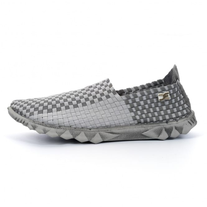 Dude Shoes Farty E-Last 2 Woven Grey Check