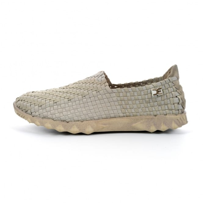 Dude Shoes Farty E-Last 4 Woven Beige Check