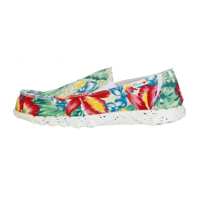 Dude Shoes Farty Funk White Kite Slip On / Mule