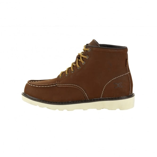 Dude Shoes Rocca Tan Leather Moc Toe Boots