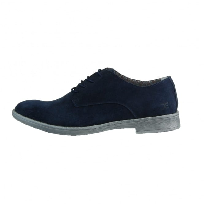 Dude Shoes Volterra Suede Navy Derby Shoe