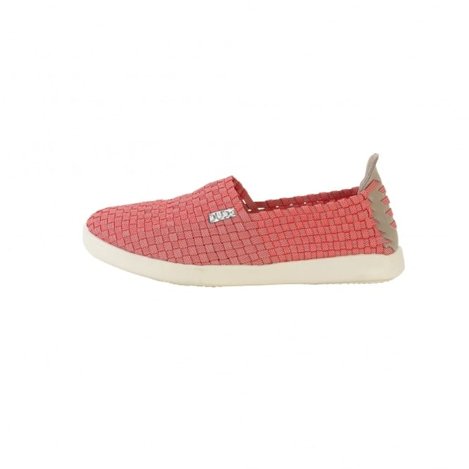 Dude Shoes E-last Simple Coral Slip On