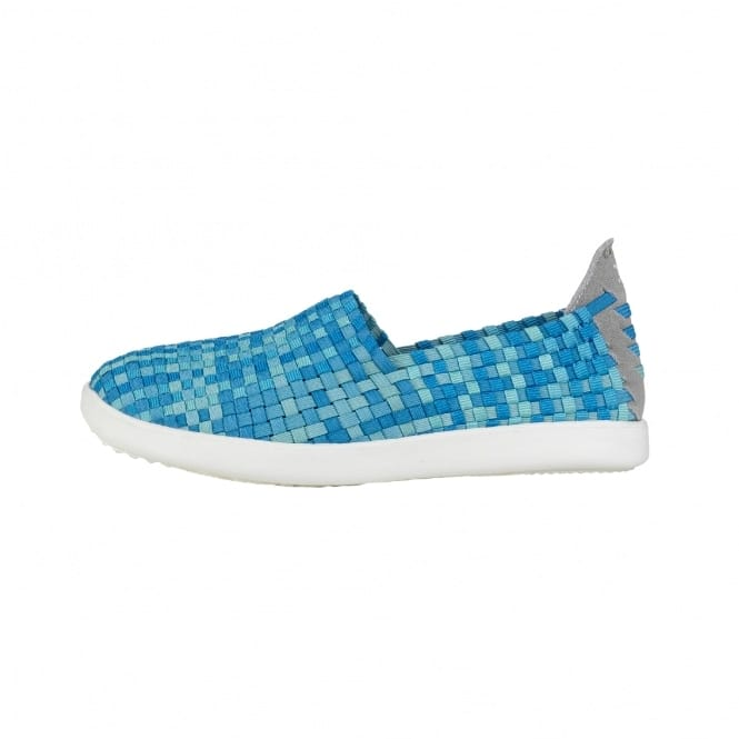Dude Shoes E-last Simple Turquoise Fade Slip On