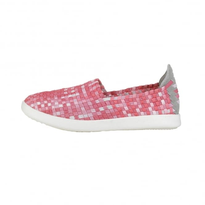 Dude Shoes E-last Simple Pink Fade Slip On