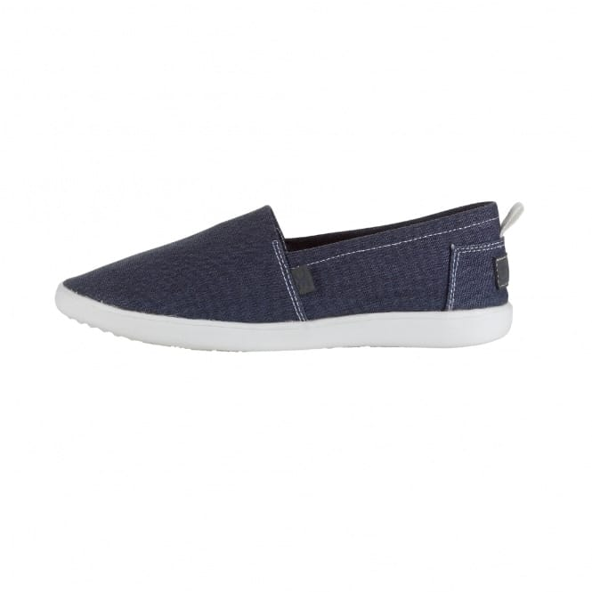 Dude Shoes Capri Navy Stretch Slip On