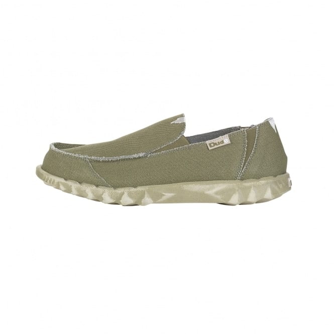Dude Shoes Farty Classic Khaki Slip On / Mule