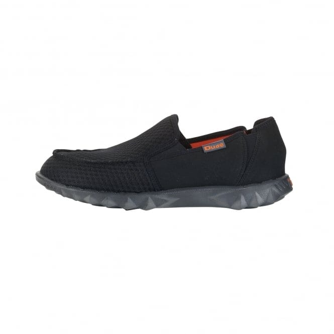 Dude Shoes Farty Sox Mesh Black