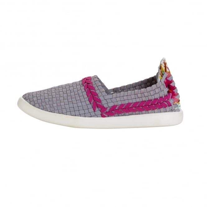 Dude Shoes E-last Simple Funk Grey Slip On