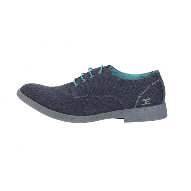 Dude Shoes Volterra Stretch Navy Derby Shoe