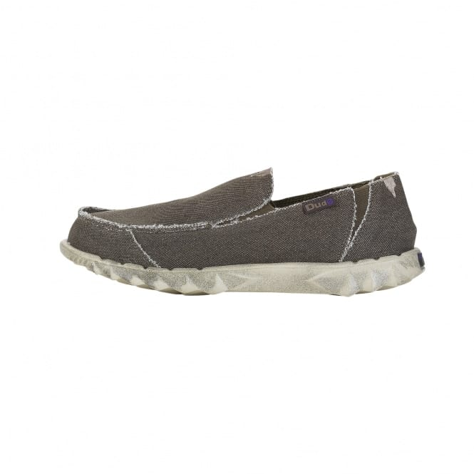 Dude Shoes Farty Classic Chocolate Stonewash Slip On / Mule