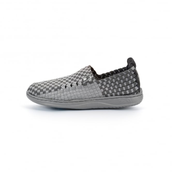 Dude Shoes Moka E-Last 6 Woven Textile Grey