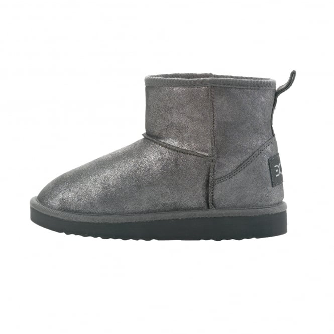 Dude Shoes Sella Ladies Boot Ash Lame Suede