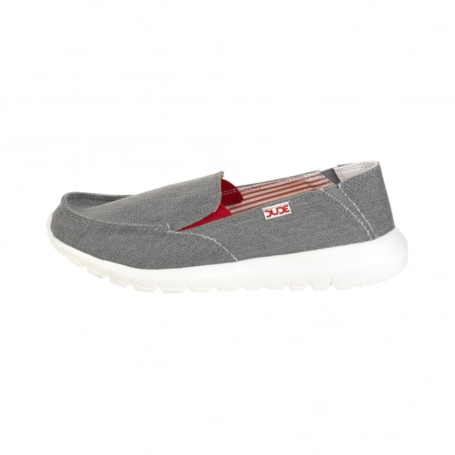 Dude Shoes Ava Funk Grey Slip On