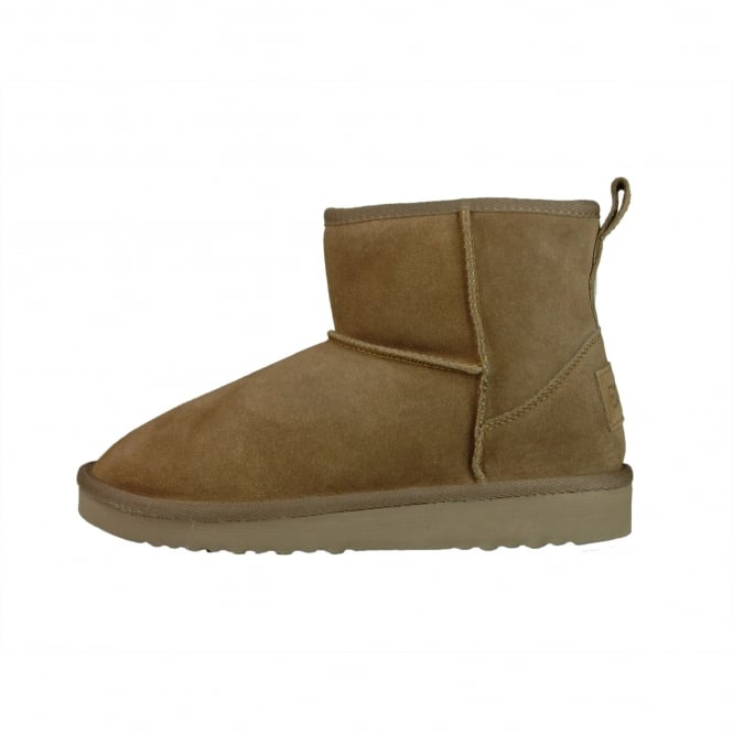 Dude Shoes Sella Ladies Boot Tan Suede