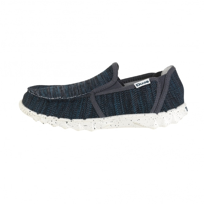 Dude Shoes Farty Sox Knit Grey Azur Slip On / Mule