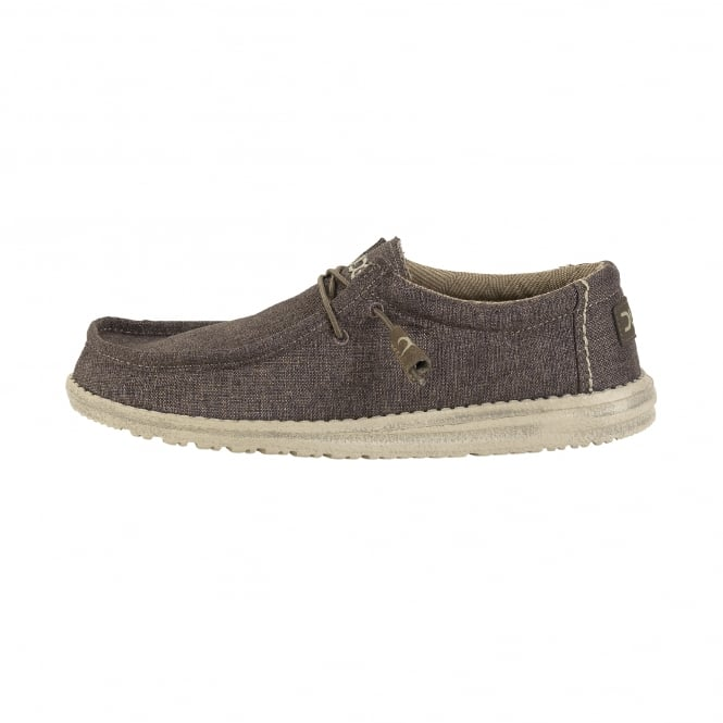 Dude Shoes Wally Linen Chocolate
