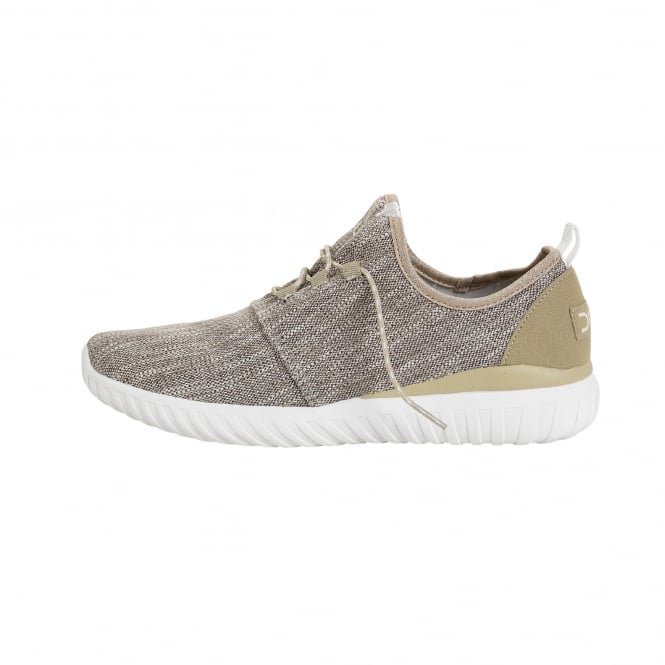 Dude Shoes Renova Woven Beige Urban Trainer