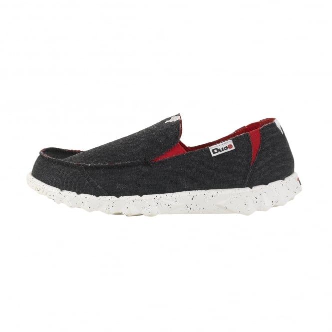 Dude Shoes Farty Funk Black Red