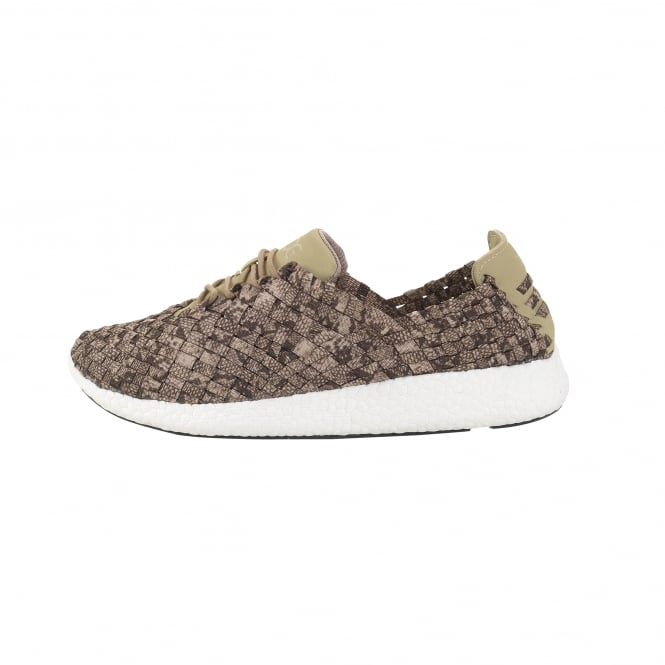 Dude Shoes E-Last Joyce Beige Python Lace-Up