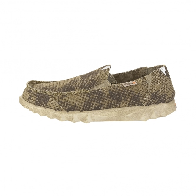 Dude Shoes Farty Print Desert Camo Slip On / Mule