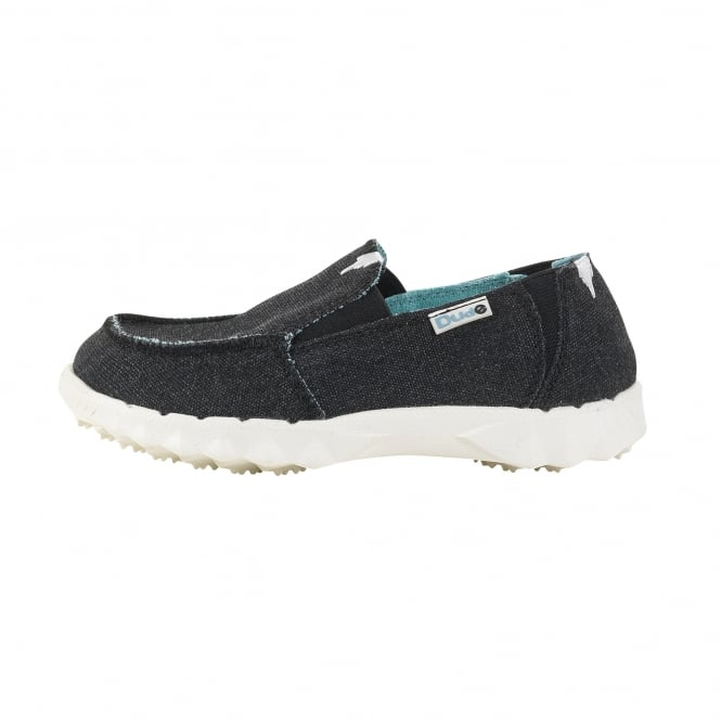 Dude Shoes Farty Kids Black Slip On / Mule