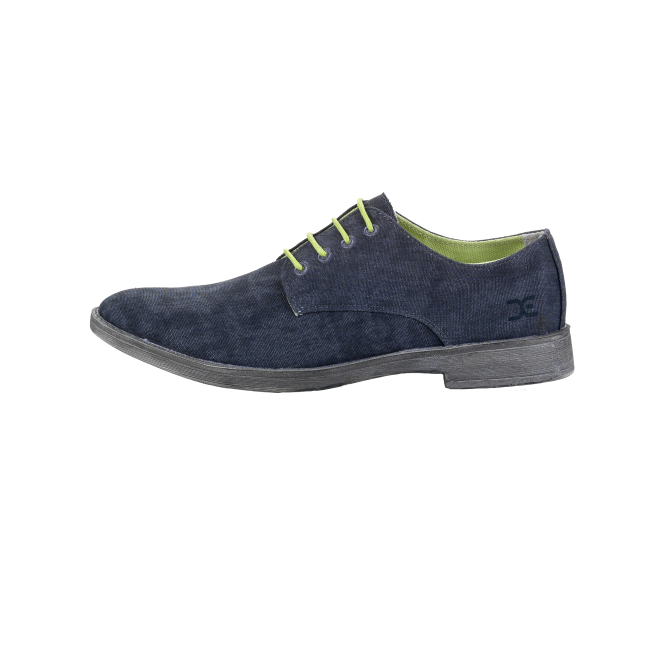 Dude Shoes Volterra Canvas Navy Derby Shoe