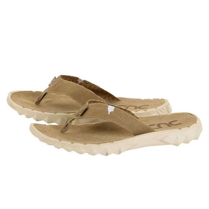 Dude Shoes Sava Chestnut Canvas Flip Flop