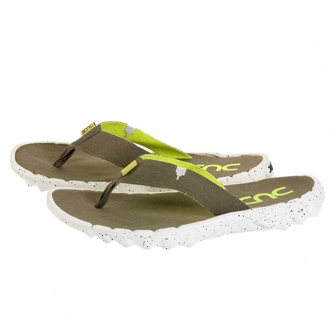 Dude Shoes Sava Funk Olive Canvas Flip Flop