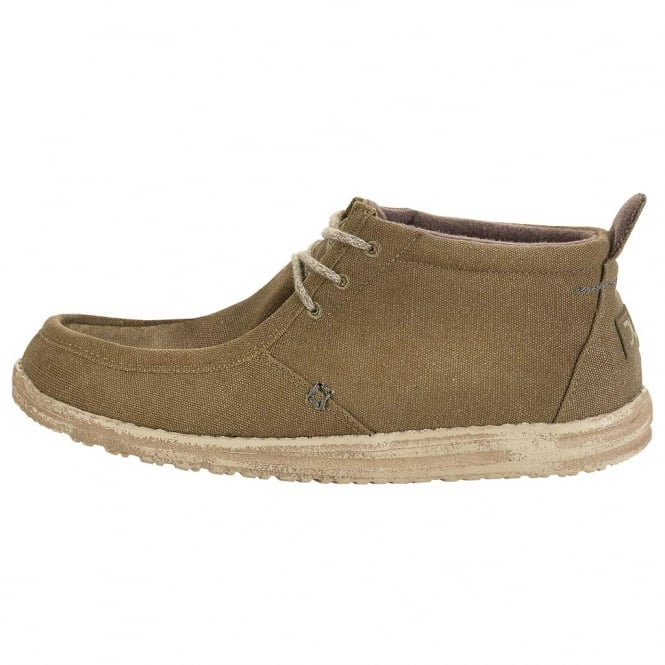 Dude Shoes Conrad Olive Canvas Chukka Boot