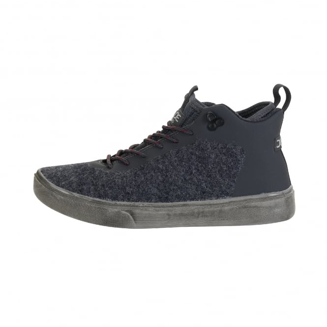 Dude Shoes Auris Wool Blue Hard Court Boot