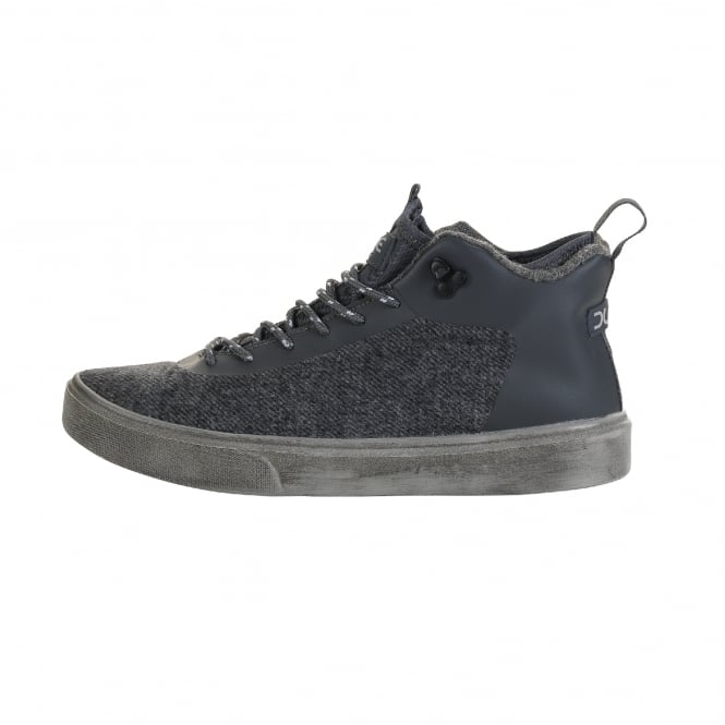 Dude Shoes Auris Wool Charcoal Urban Hiker Boot