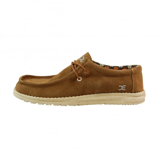 Dude Shoes Wally Suede Nut