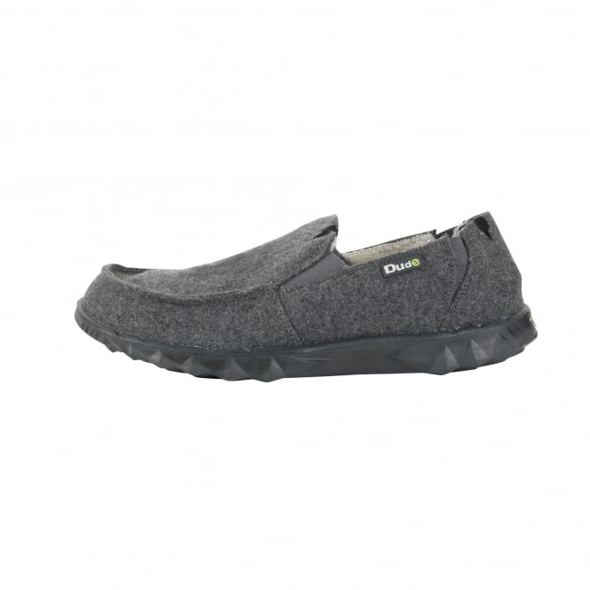 Dude Shoes Fur Lined Farty Chalet Felt Grey