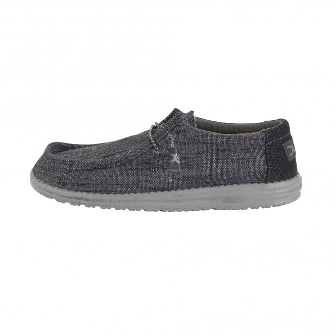 Dude Shoes Wally Woven Carbone
