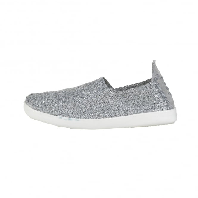 Dude Shoes E-Last Simple Silver Slip On