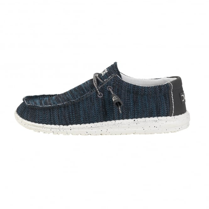 Dude Shoes Wally Sox Knit Grey Azur