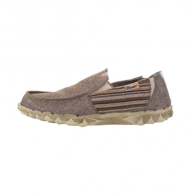 Dude Shoes Farty Inca Brown Slip On / Mule