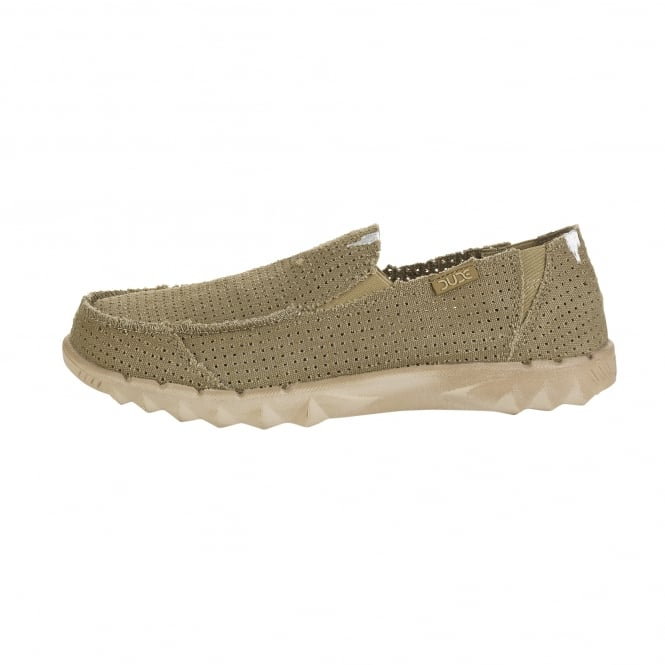 Dude Shoes Farty Post Sport Perforated Canvas Chestnut